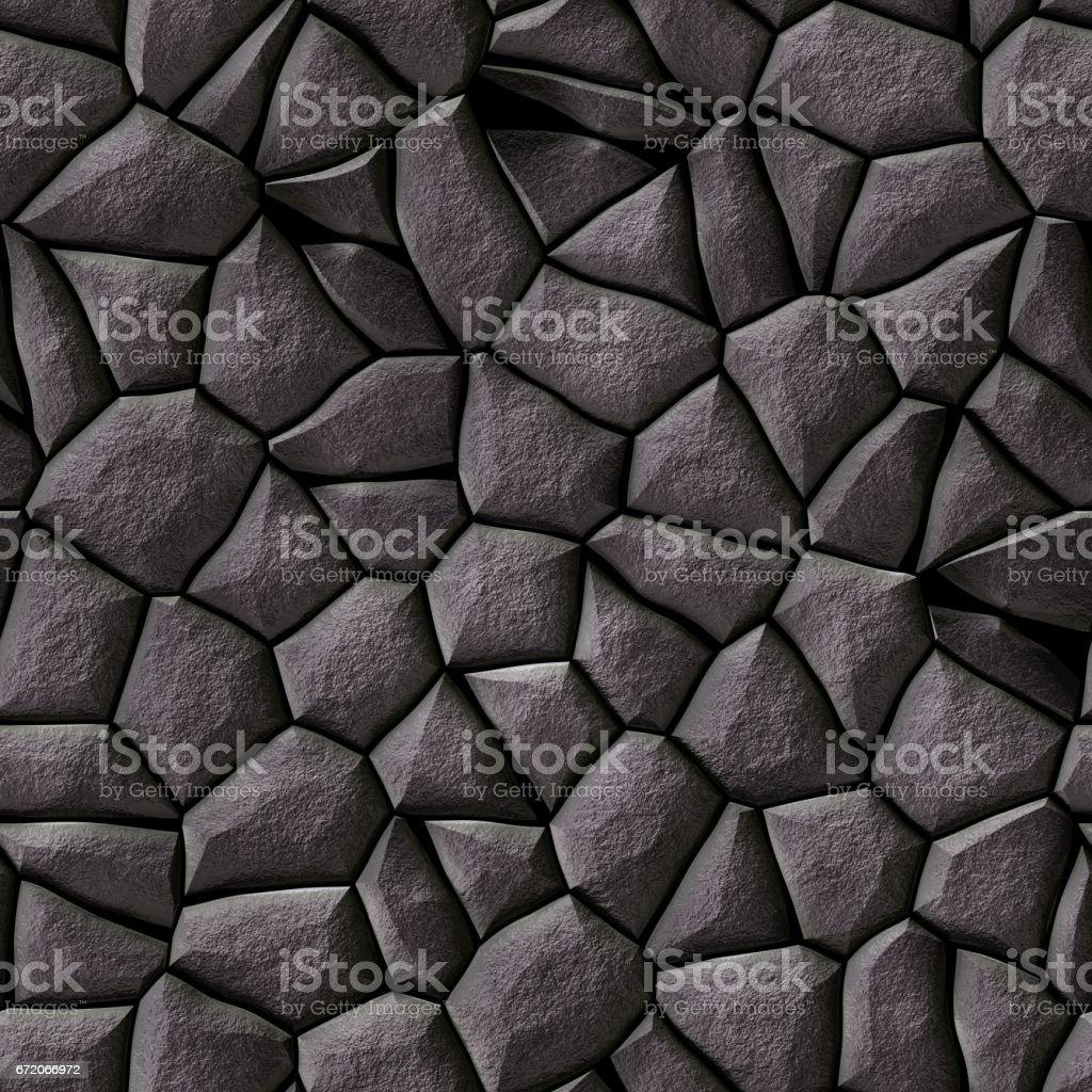 cobble stones irregular mosaic seamless background - pavement dark gray natural colored vector art illustration