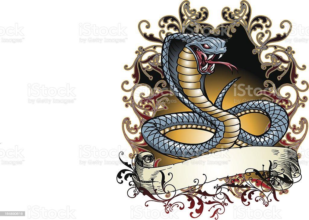 Cobra Tattoo royalty-free stock vector art