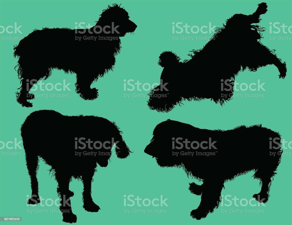 Cocker Spaniel Dog Silhouettes (Vector) royalty-free stock vector art