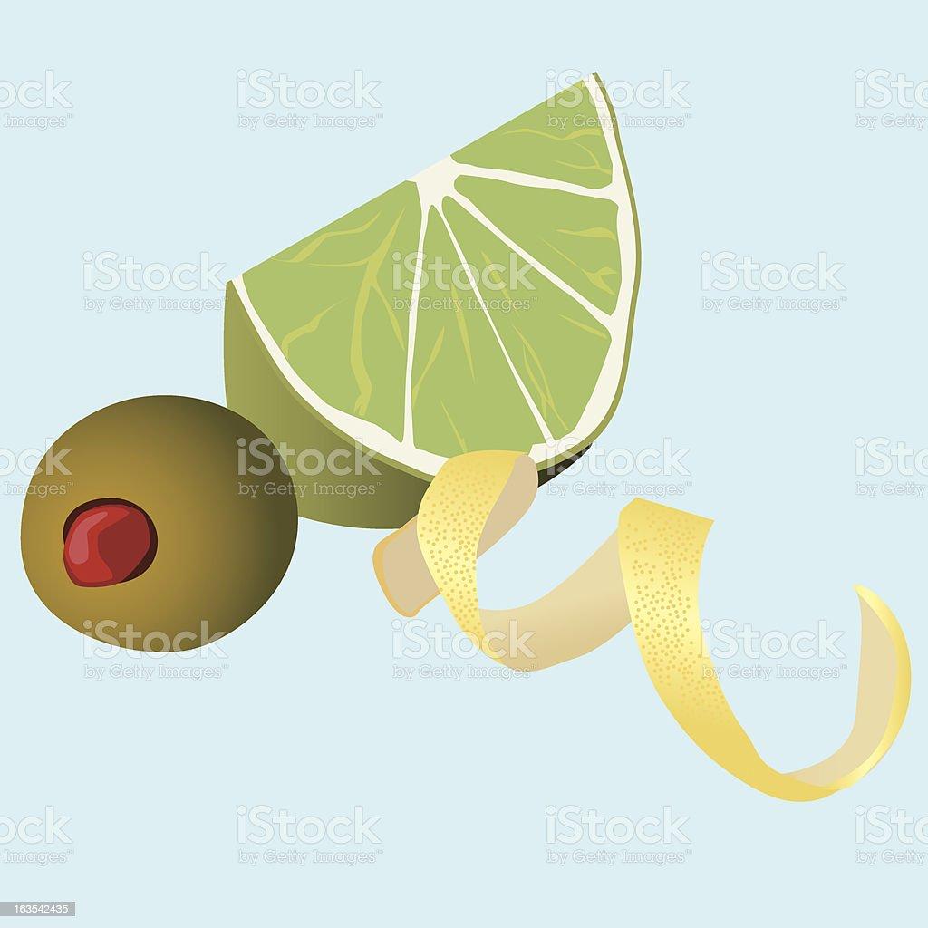 Cocktail Garnishes vector art illustration