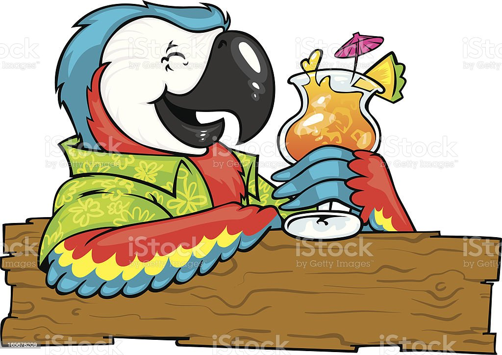 cocktail parrot royalty-free stock vector art