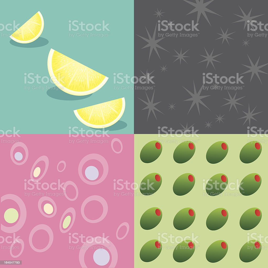 Cocktail Party Backgrounds royalty-free stock vector art