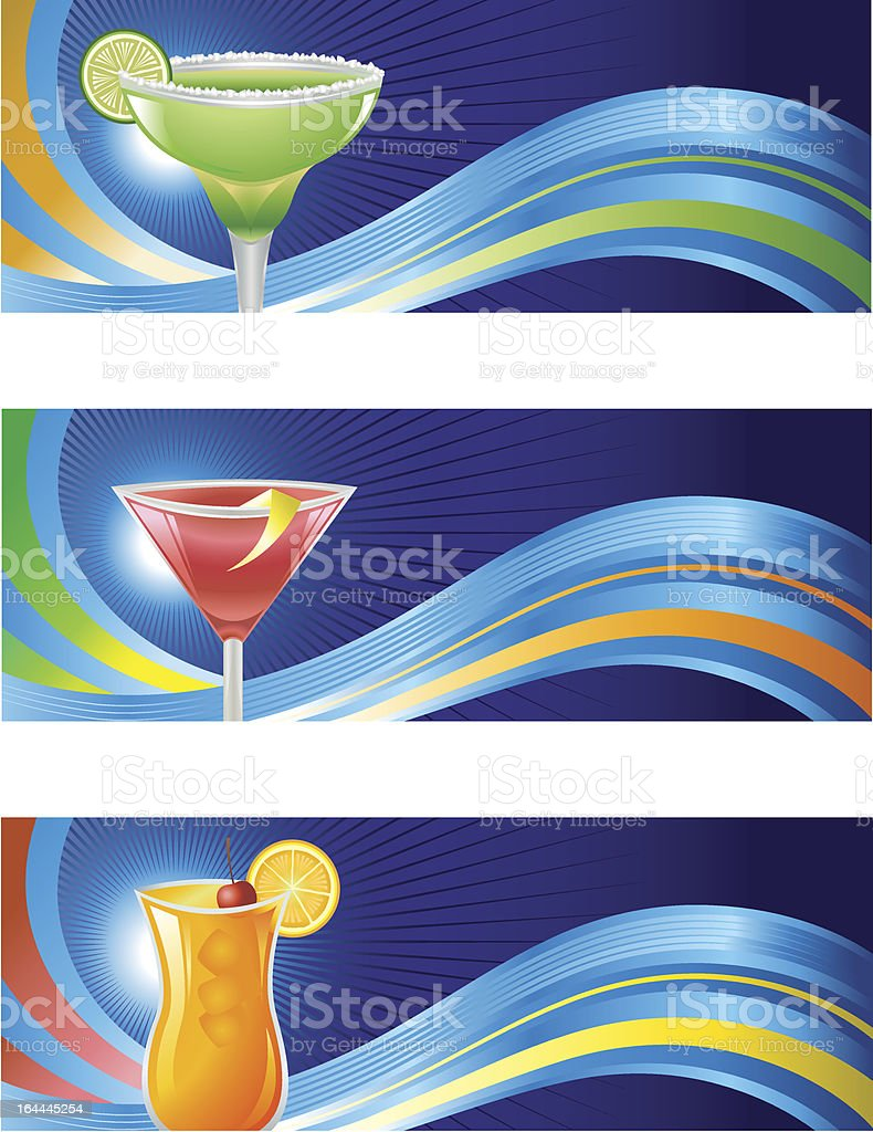 Cocktail Waves royalty-free stock vector art