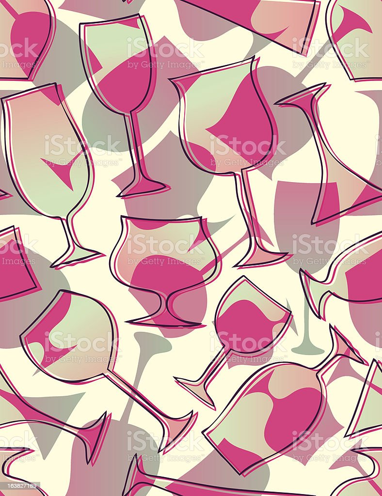 Cocktails - seamless pattern royalty-free stock vector art