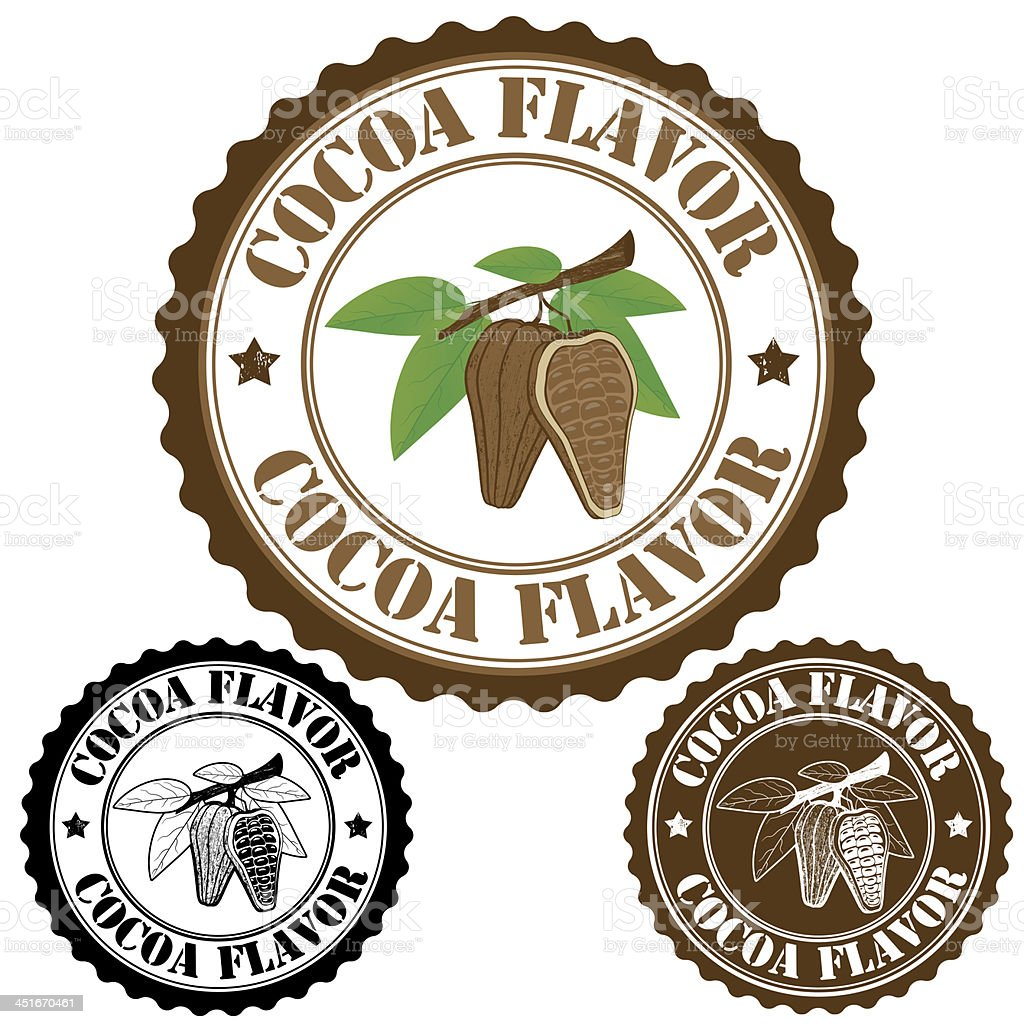 Cocoa flavor stamp royalty-free stock vector art