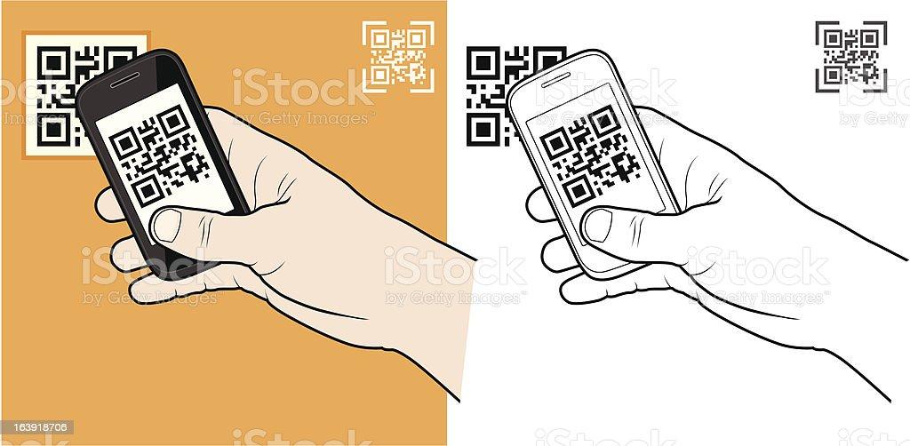 QR Code vector art illustration