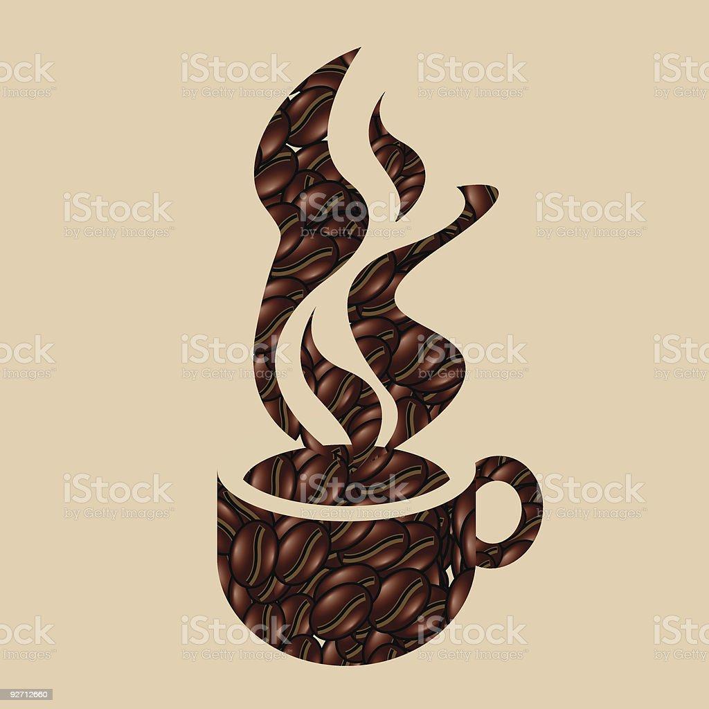 Coffe bean cup royalty-free stock vector art