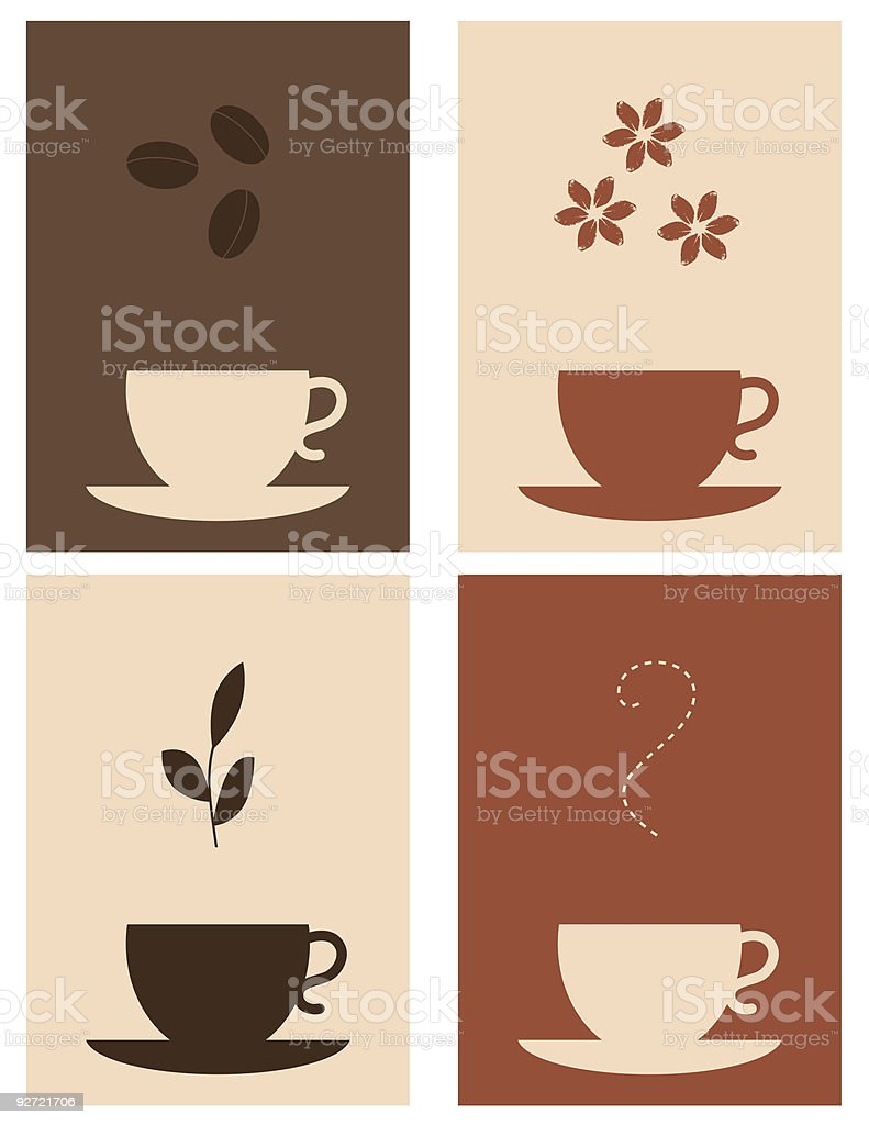Coffee and tea royalty-free stock vector art