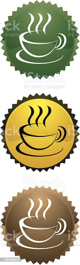 coffee badge royalty-free stock vector art