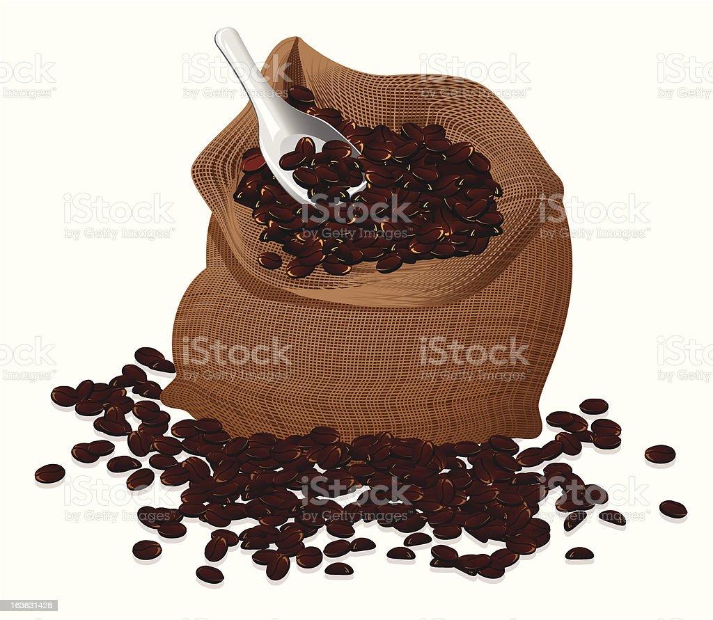 Coffee bag vector art illustration
