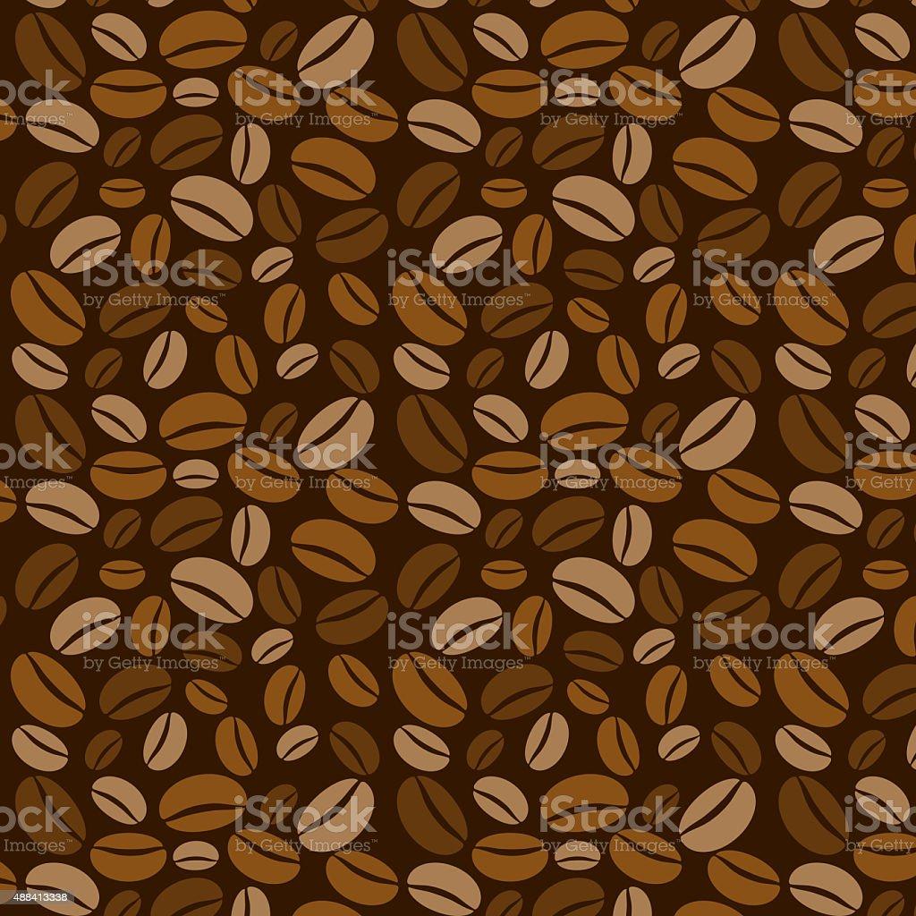 Coffee beans background. vector art illustration