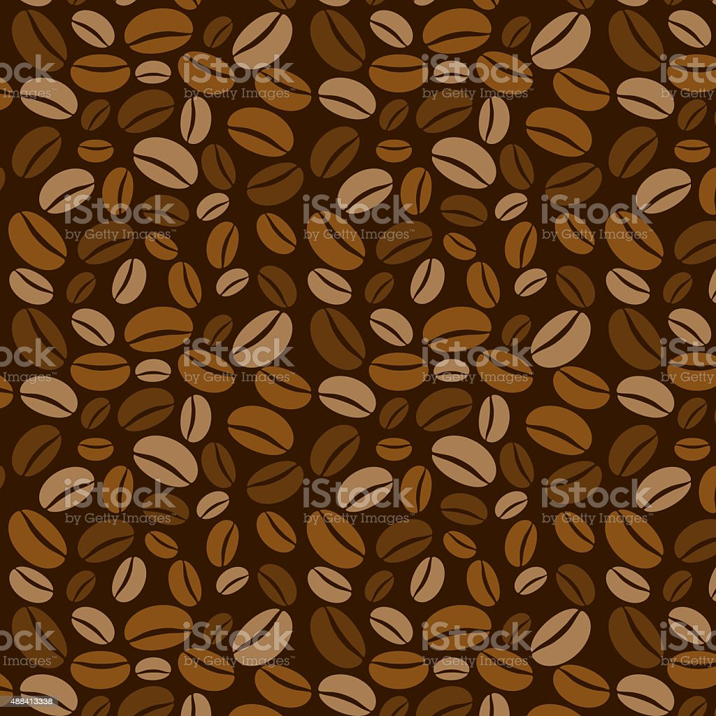 Coffee beans background. vector art illustration