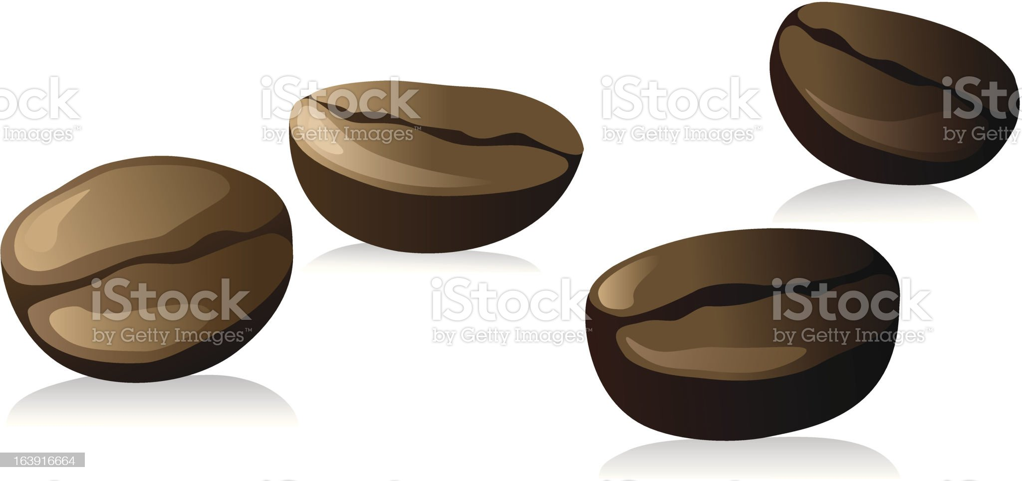 coffee beans royalty-free stock vector art