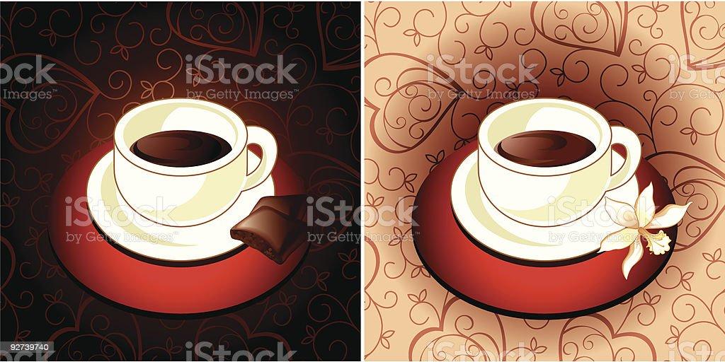 Coffee chocolate and vanilla royalty-free stock vector art