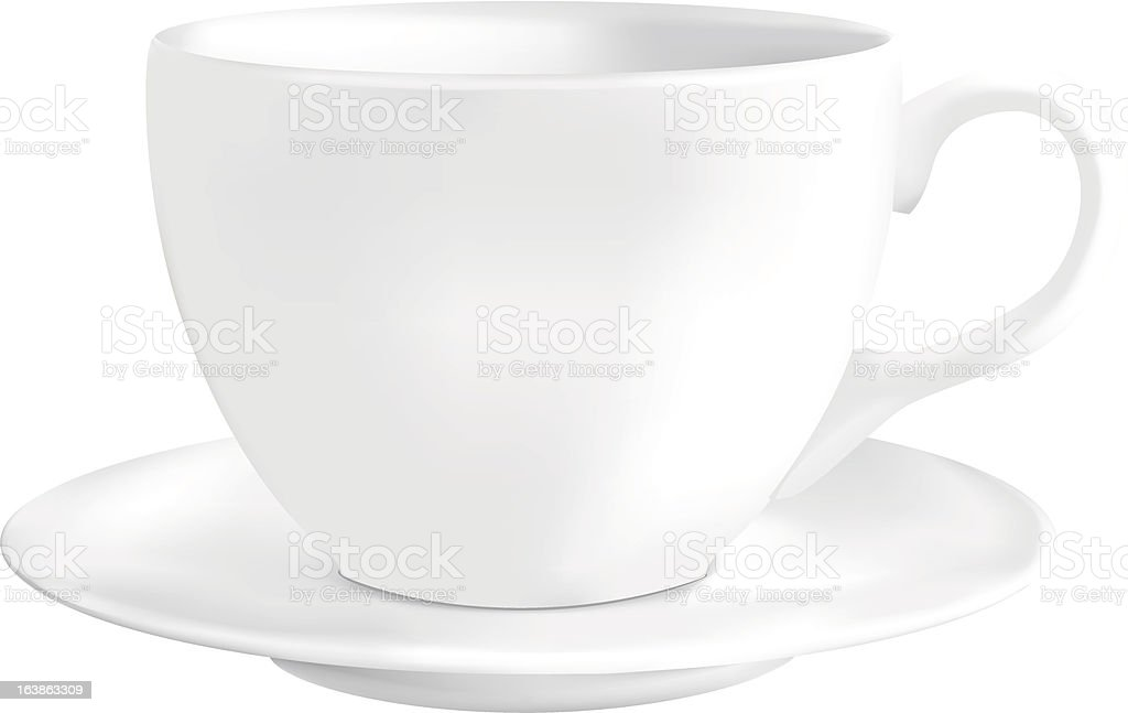 Coffee cupon and saucer royalty-free stock vector art