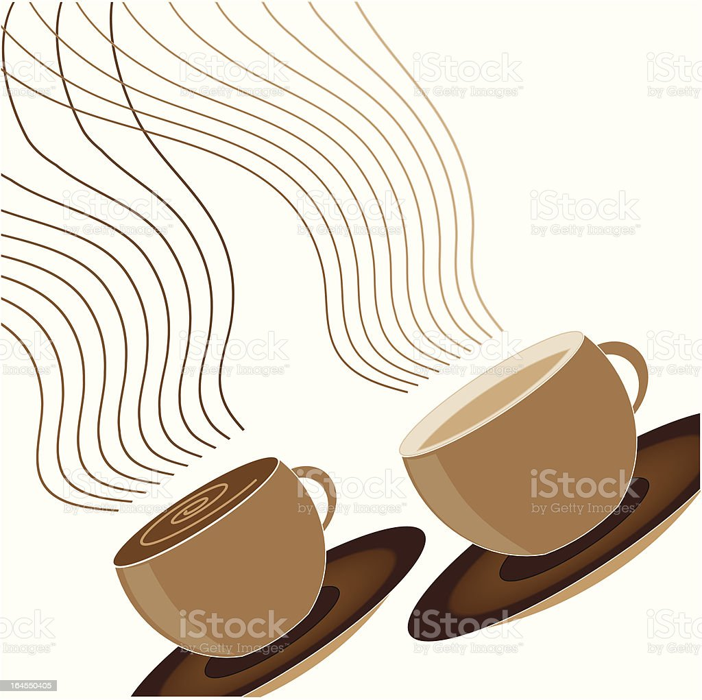 Coffee cups royalty-free stock vector art