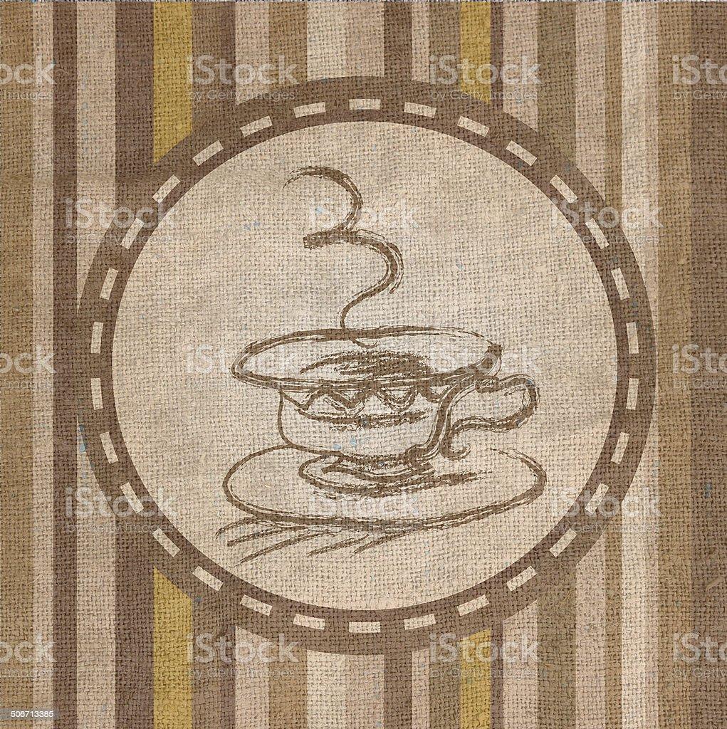 Coffee Fabric  texture vector art illustration