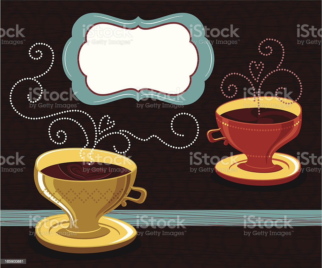 Coffee for Two royalty-free stock vector art