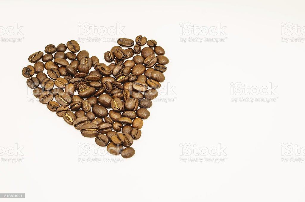 Coffee heart vector art illustration