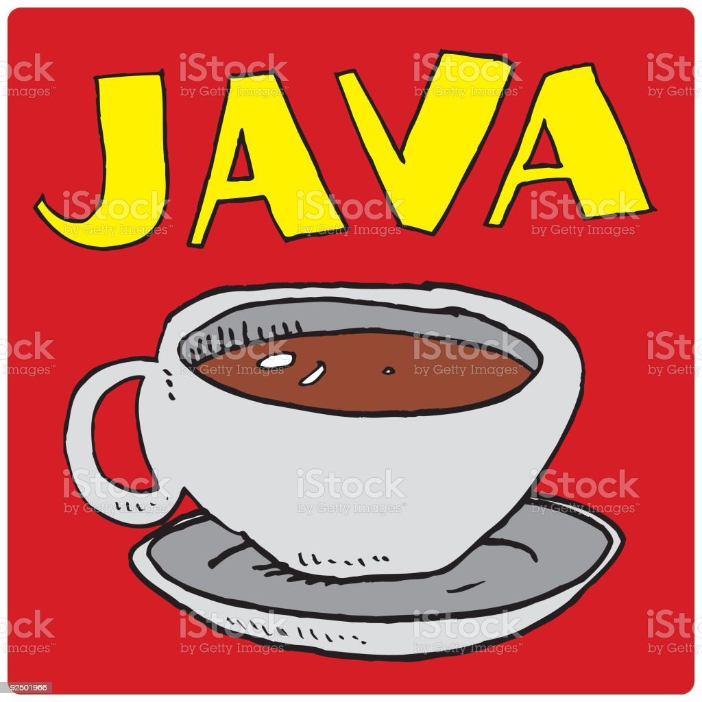 Coffee House: Java Coaster vector art illustration