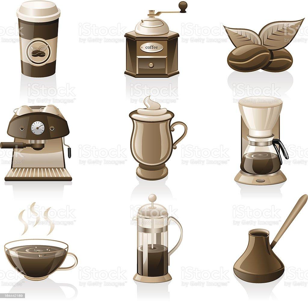 Coffee icon set. royalty-free stock vector art