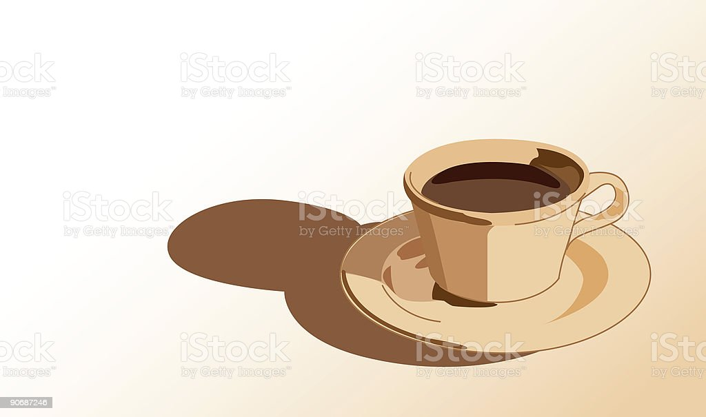 Coffee in Warm Browns royalty-free stock vector art