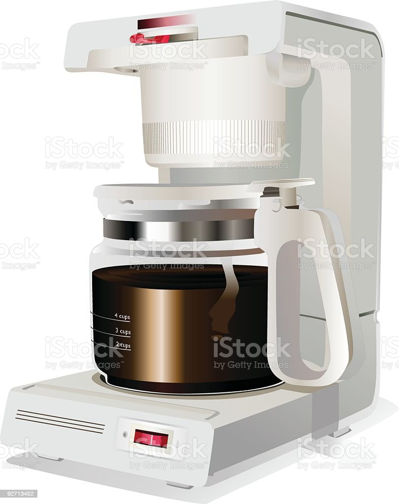 Coffee Machine (Vector) royalty-free stock vector art