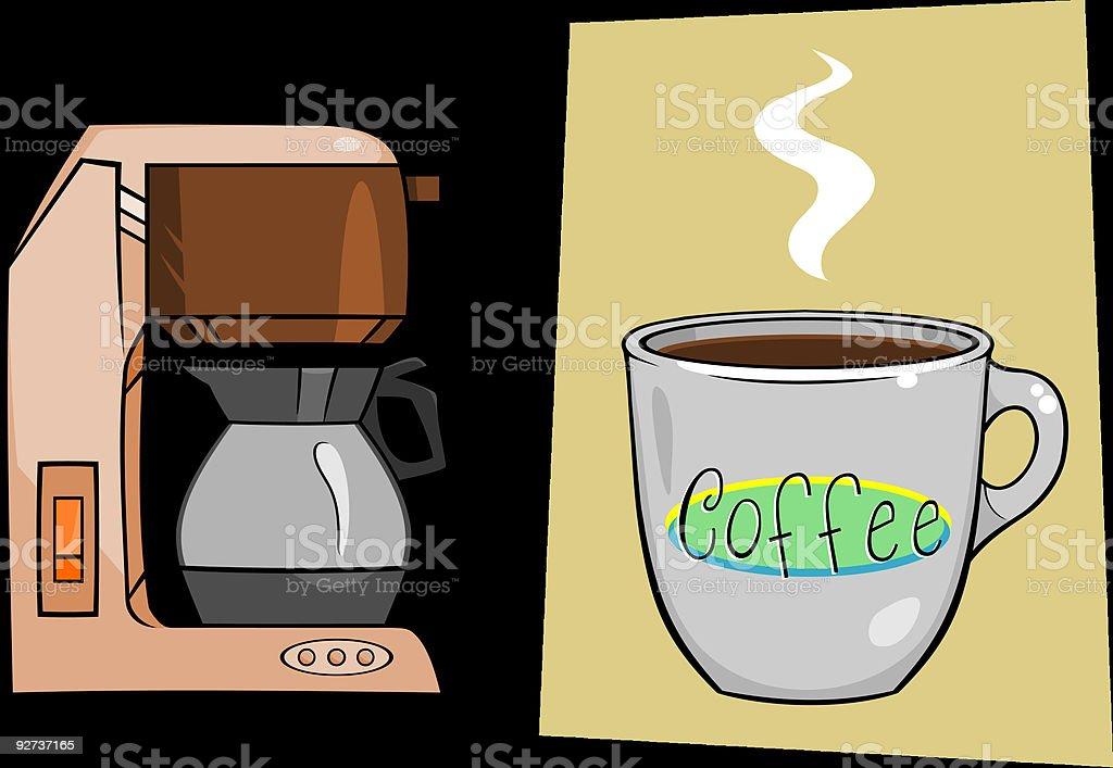 Coffee Maker Mug vector art illustration