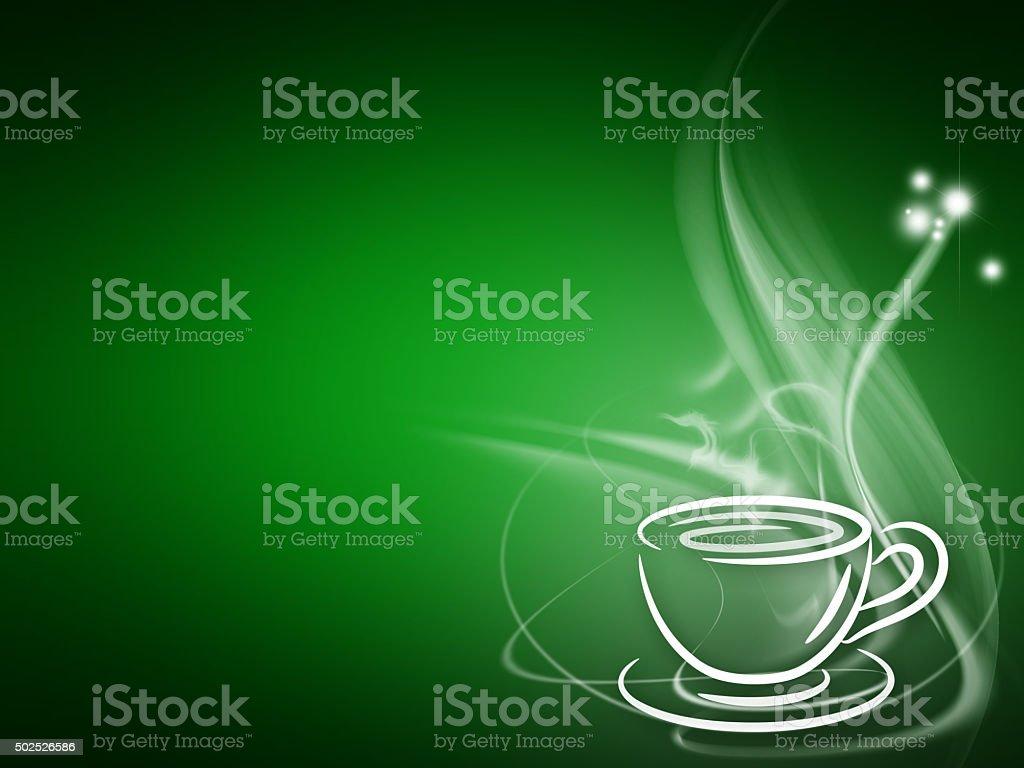 Coffee or tea cup vector art illustration