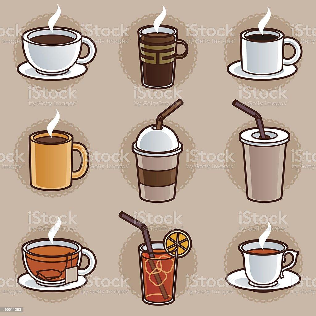 coffee or tea vector art illustration