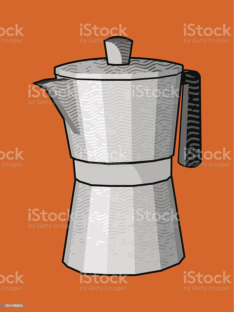 cafetera royalty-free stock vector art