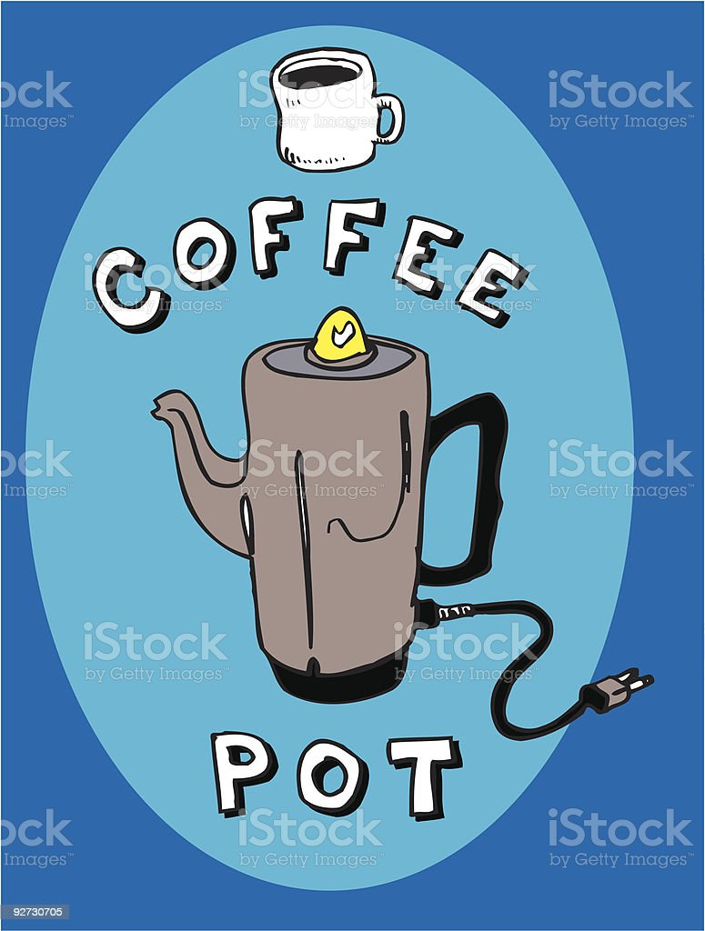Coffee Pot (vector illustration) vector art illustration