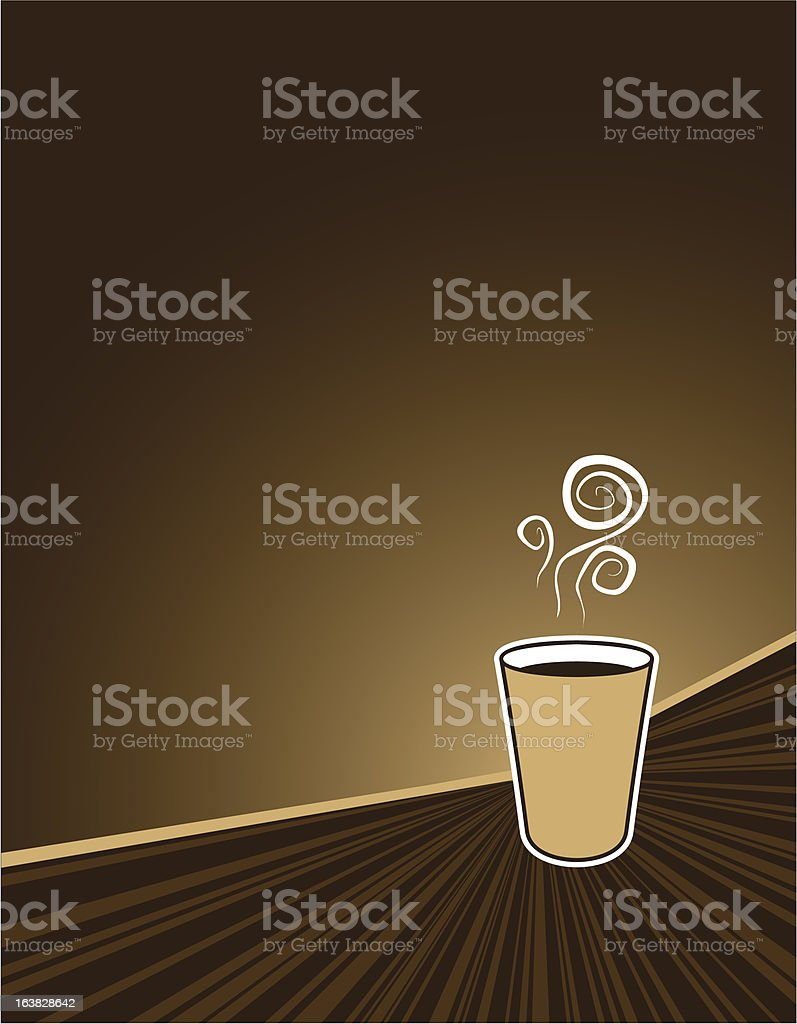 coffee rush background royalty-free stock vector art