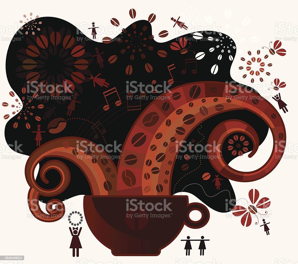 Coffee Sensation vector art illustration