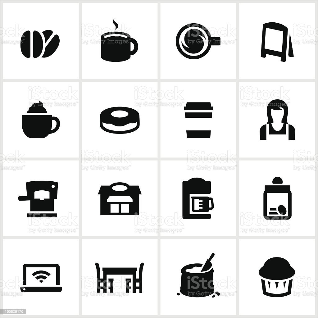 Coffee Shop Icons royalty-free stock vector art