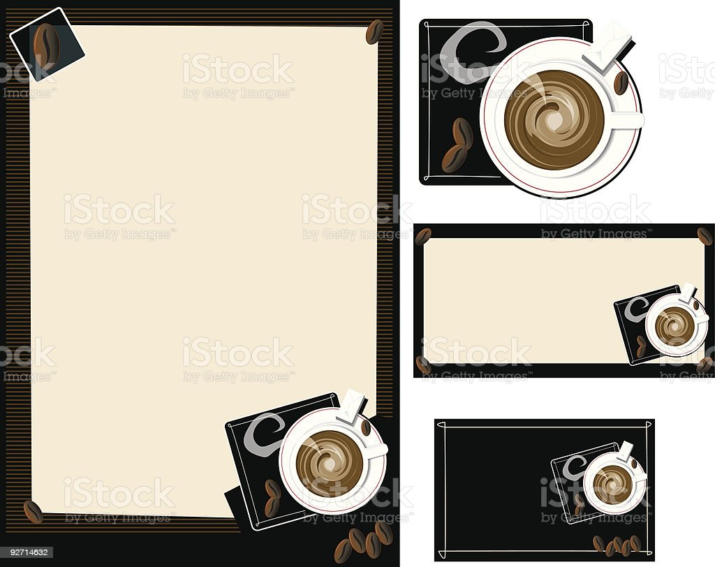 coffee shop set royalty-free stock vector art