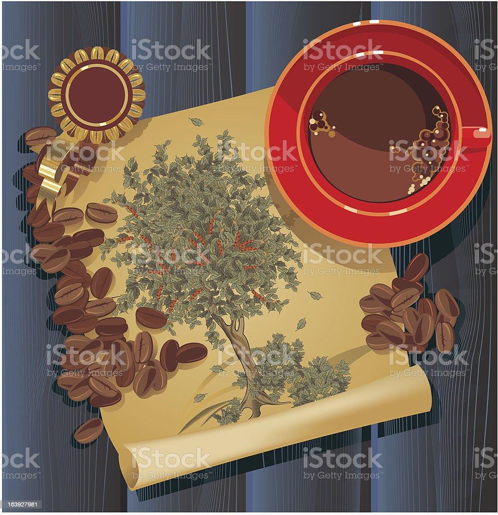coffee tree, graphic royalty-free stock vector art