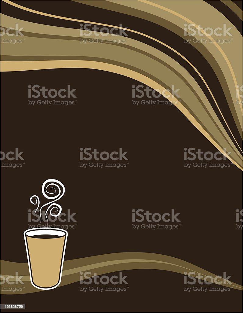 coffee wave menu background royalty-free stock vector art