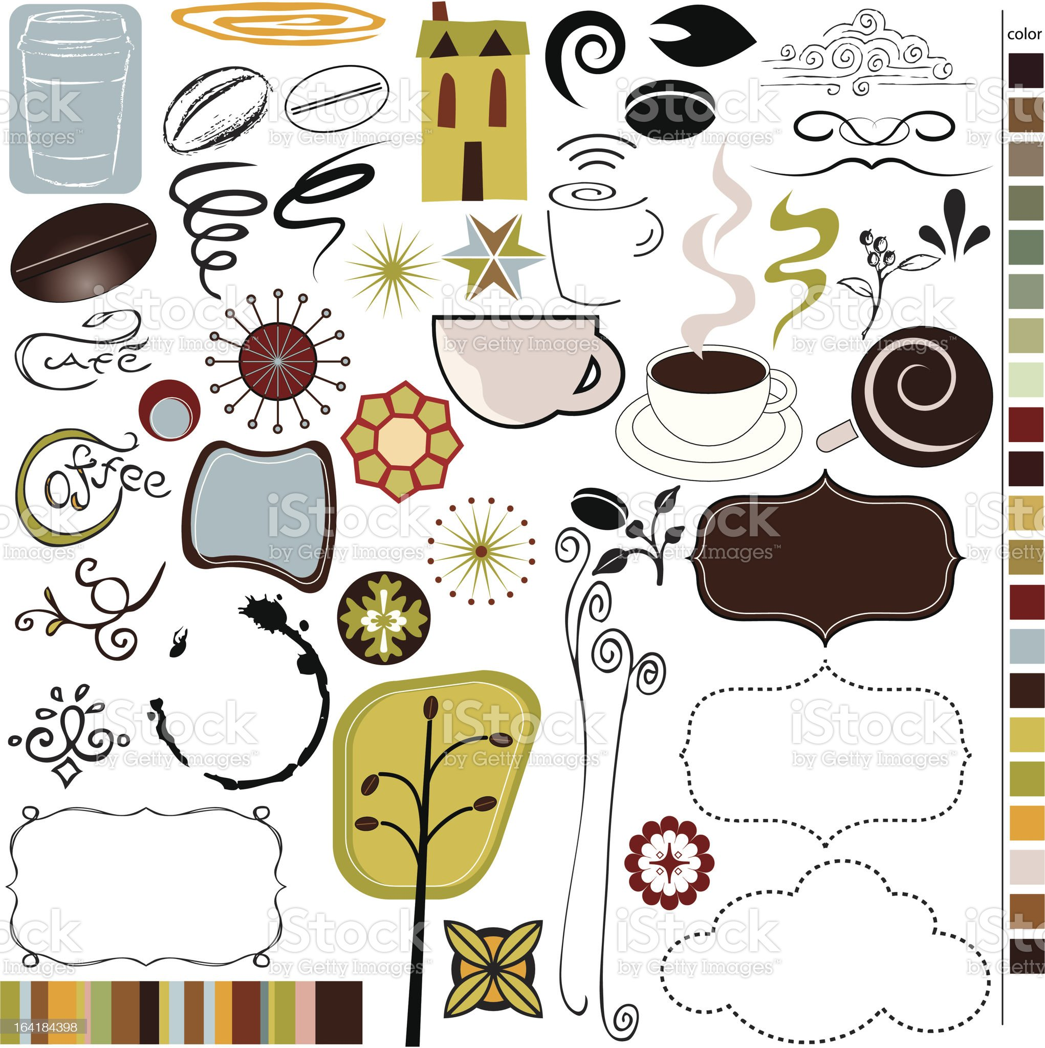 Coffee/Cafe graphics! royalty-free stock vector art