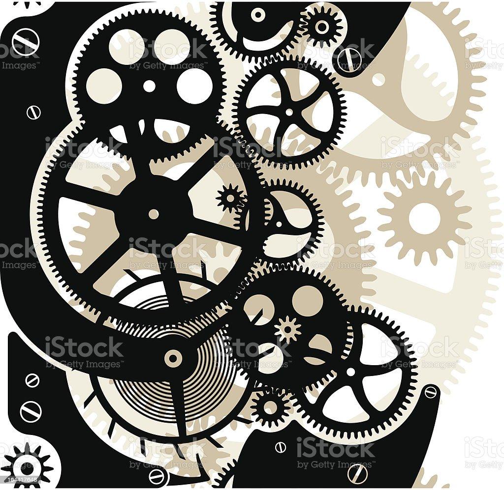 Cog wheels seamless vector art illustration