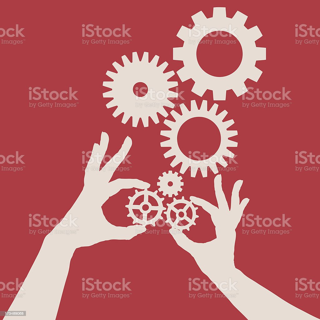 Cogs and gears royalty-free stock vector art