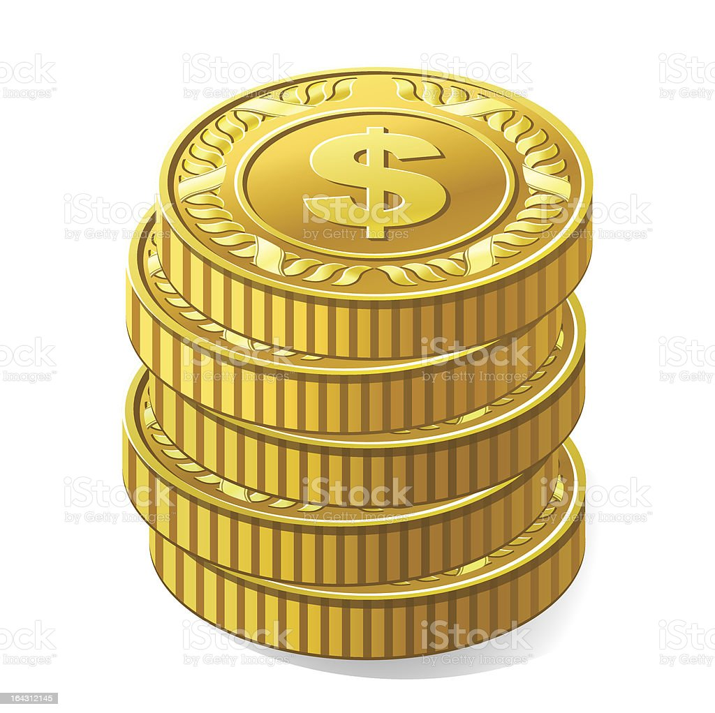 coins royalty-free stock vector art