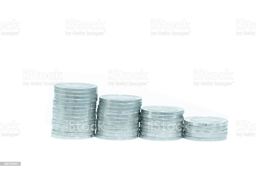 Stos monet stockowa ilustracja wektorowa royalty-free