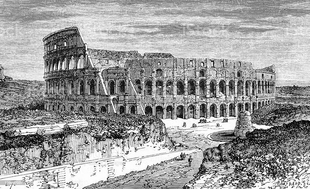 Coliseum royalty-free stock vector art