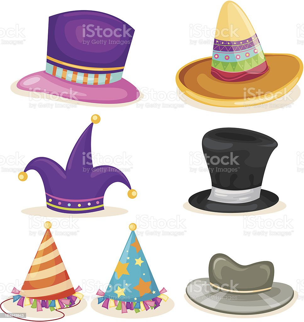 Collection HAT vector art illustration
