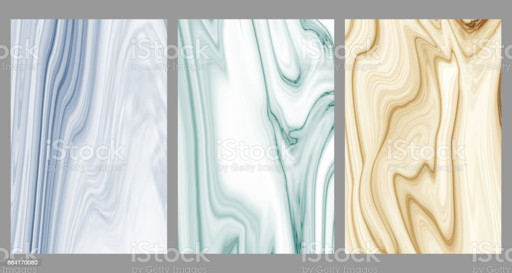 Collection marble patterned texture background, Abstract detailed structure of marble. vector art illustration