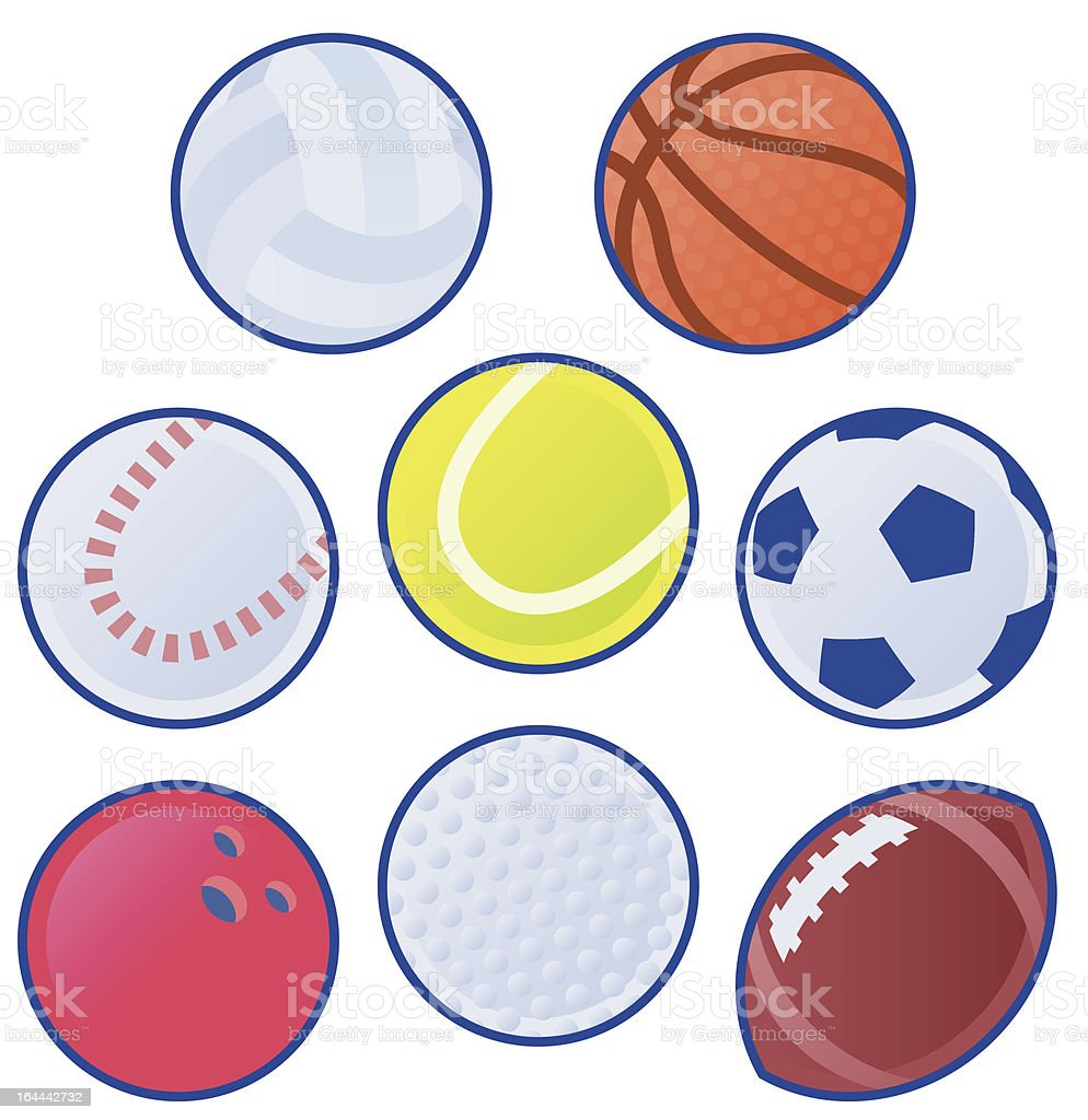 Collection of Balls royalty-free stock vector art