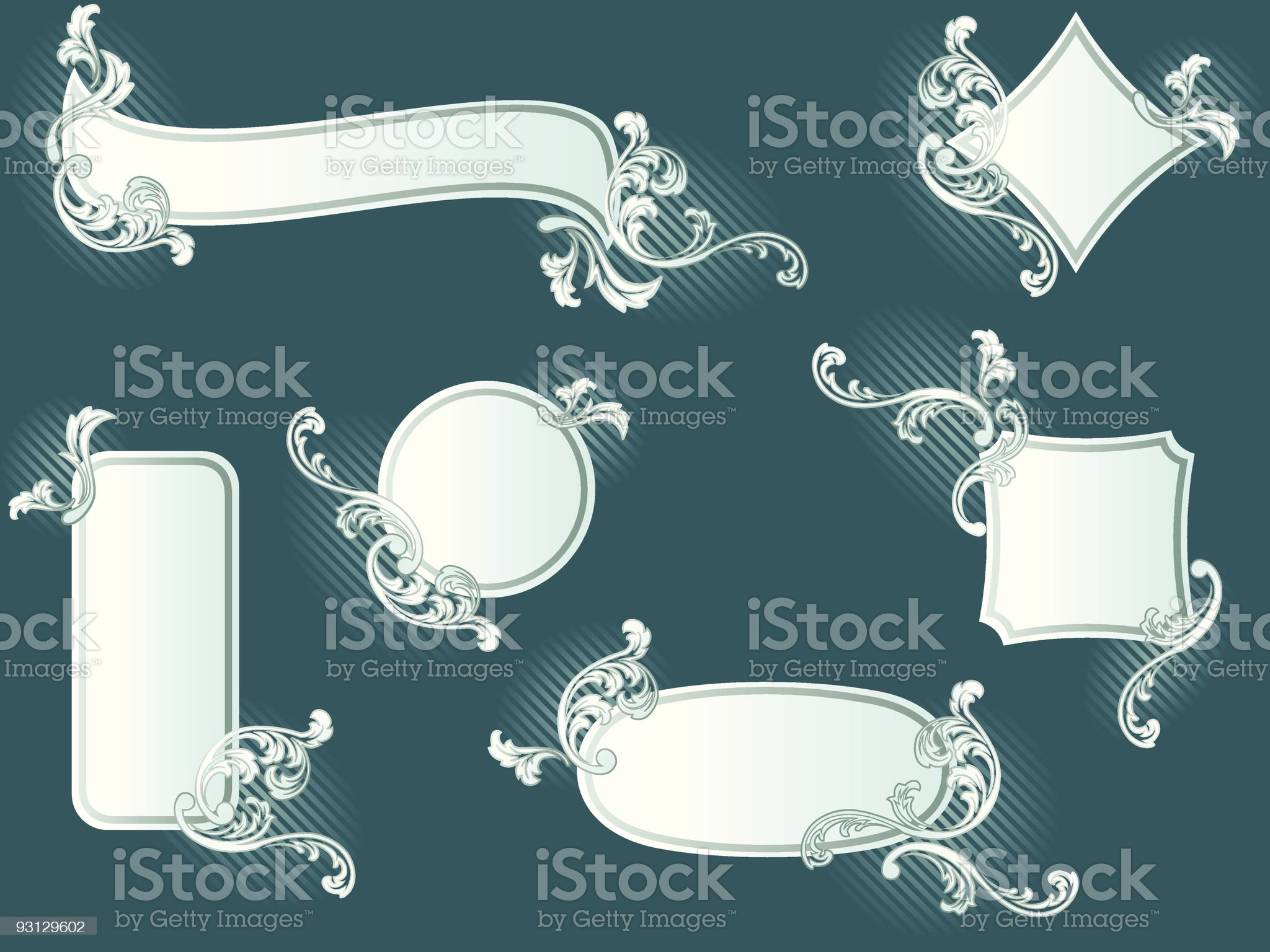 Collection of classy French retro banners royalty-free stock vector art