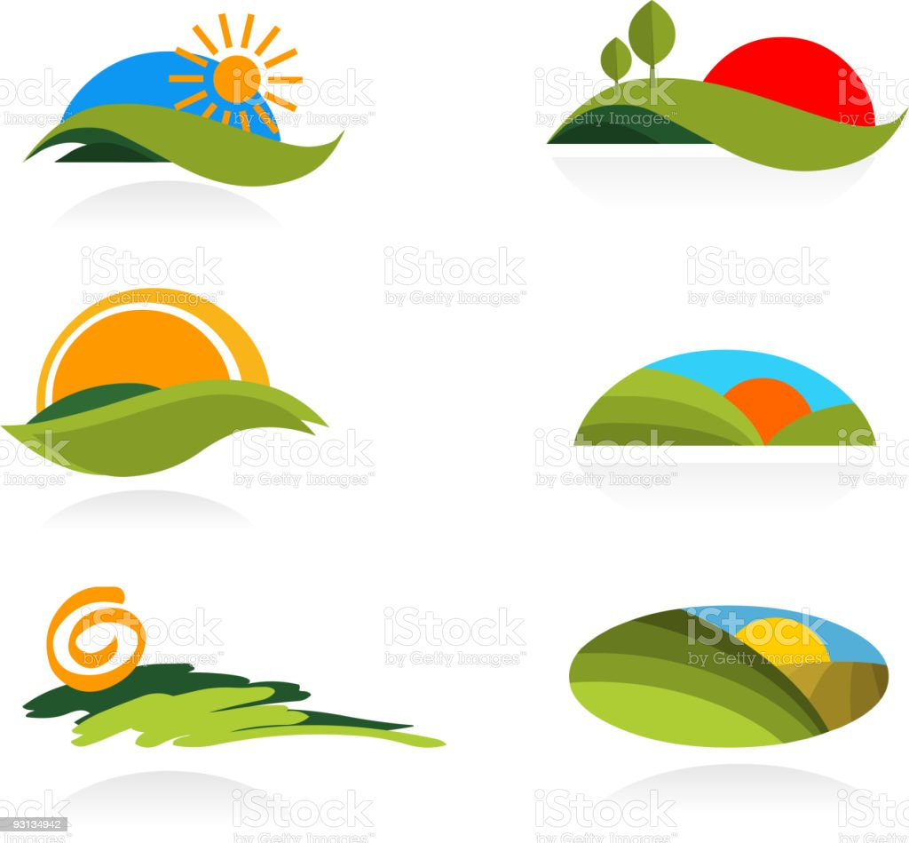 collection of nature icons royalty-free stock vector art