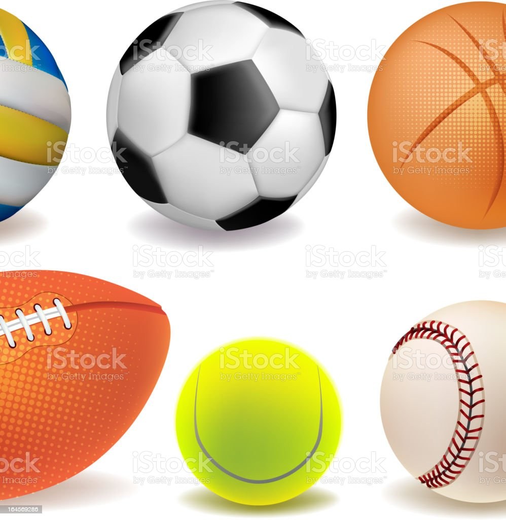 Collection of sport balls royalty-free stock vector art